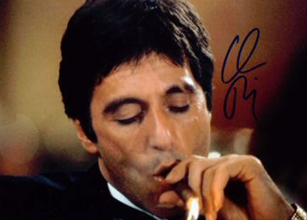 Free celebrity photos with an autograph beginning a - Al pacino scarface pics ...