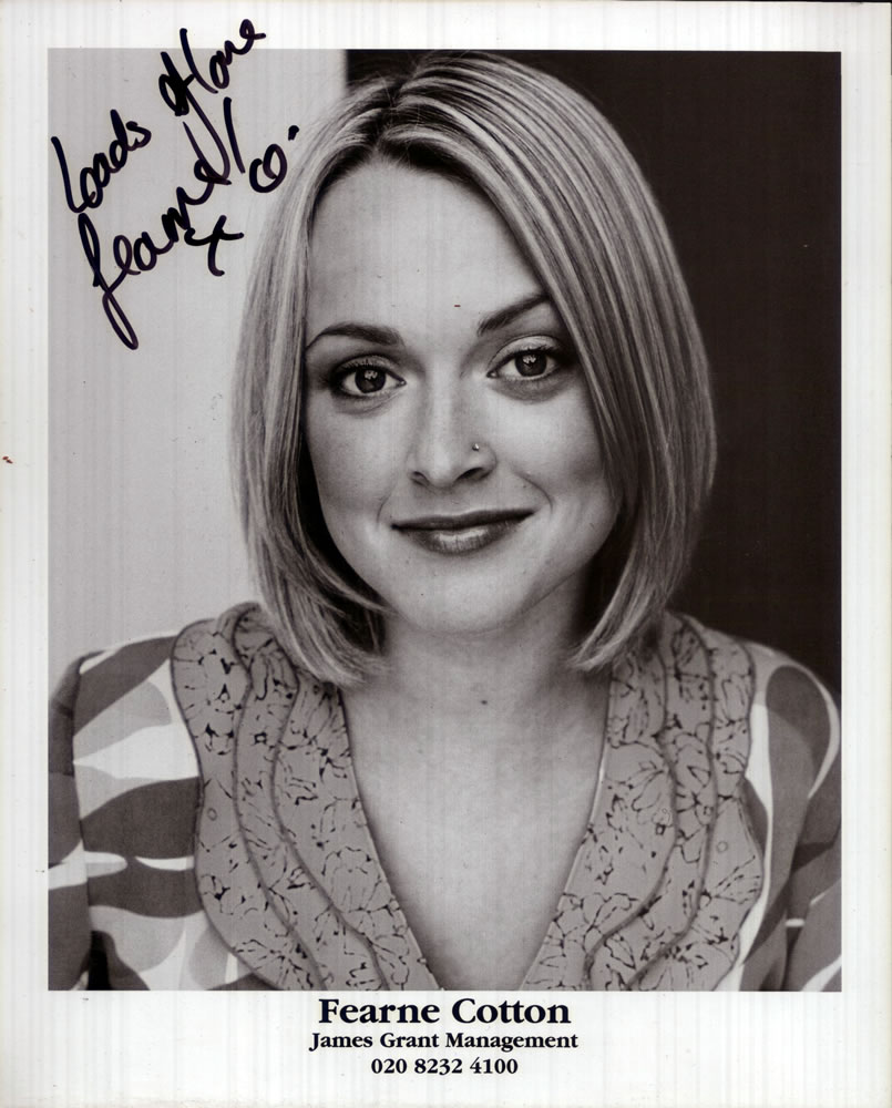 FERN COTTON Autograph