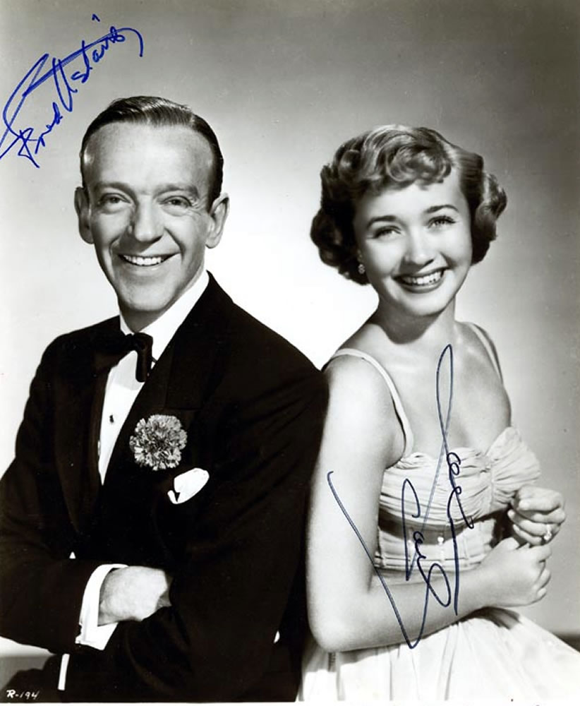 FRED ASTAIRE and JANE POWELL Autograph