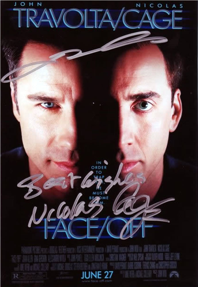 Face Off Travolta Cage Autograph