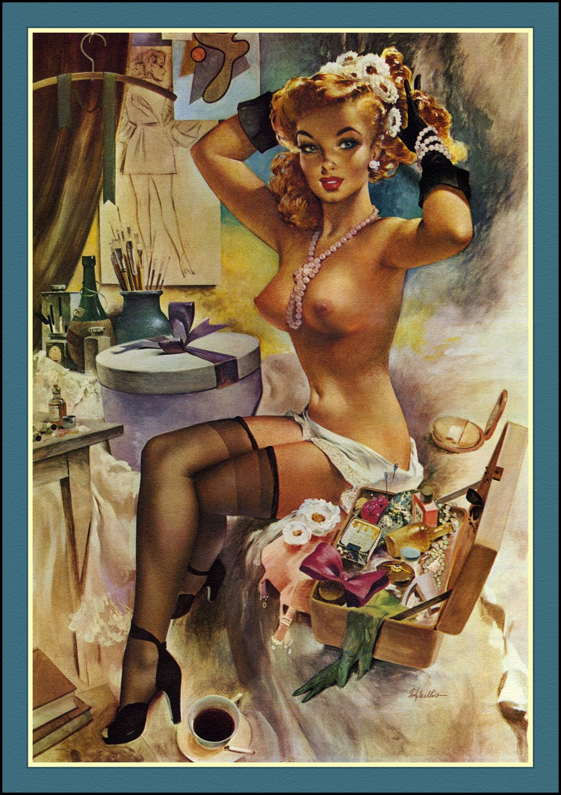 Free Classic Pinups Pin Up Girls By Fritz Willis-9829