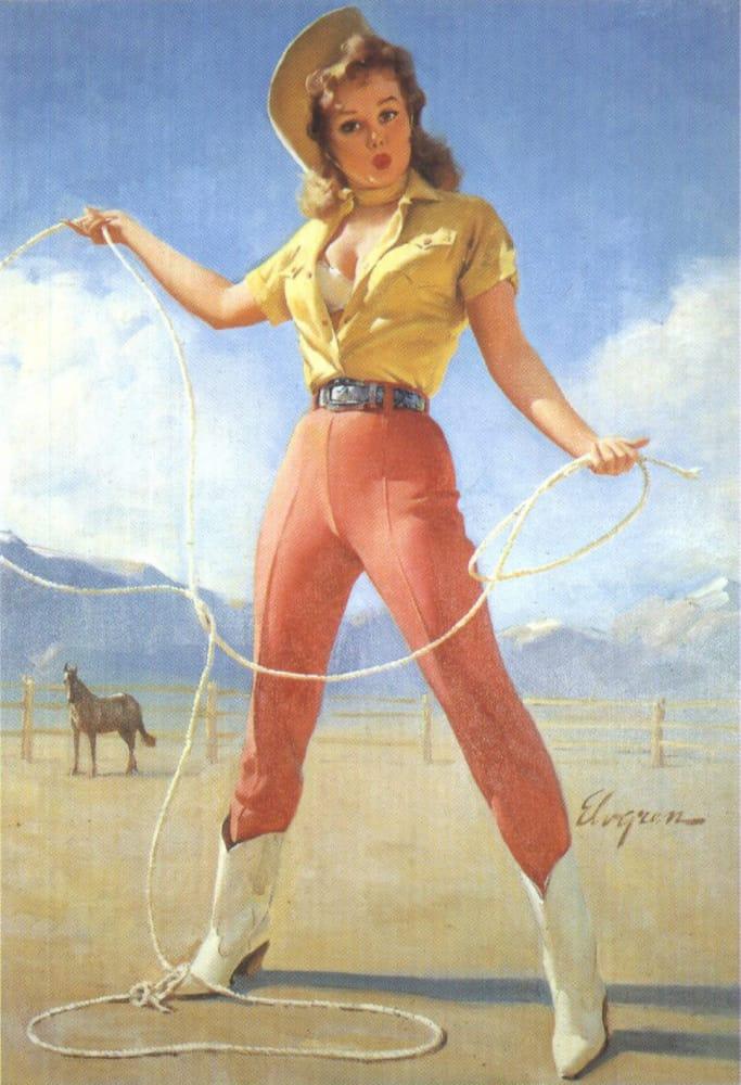 стиль пинапа девушки ковбойки