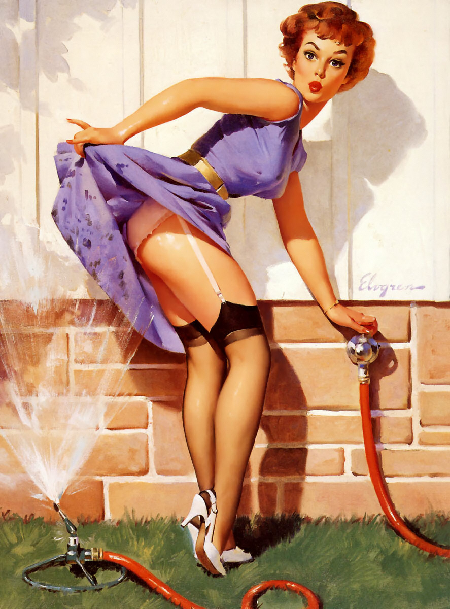 Gil Elvgren Pin-Up Art 021