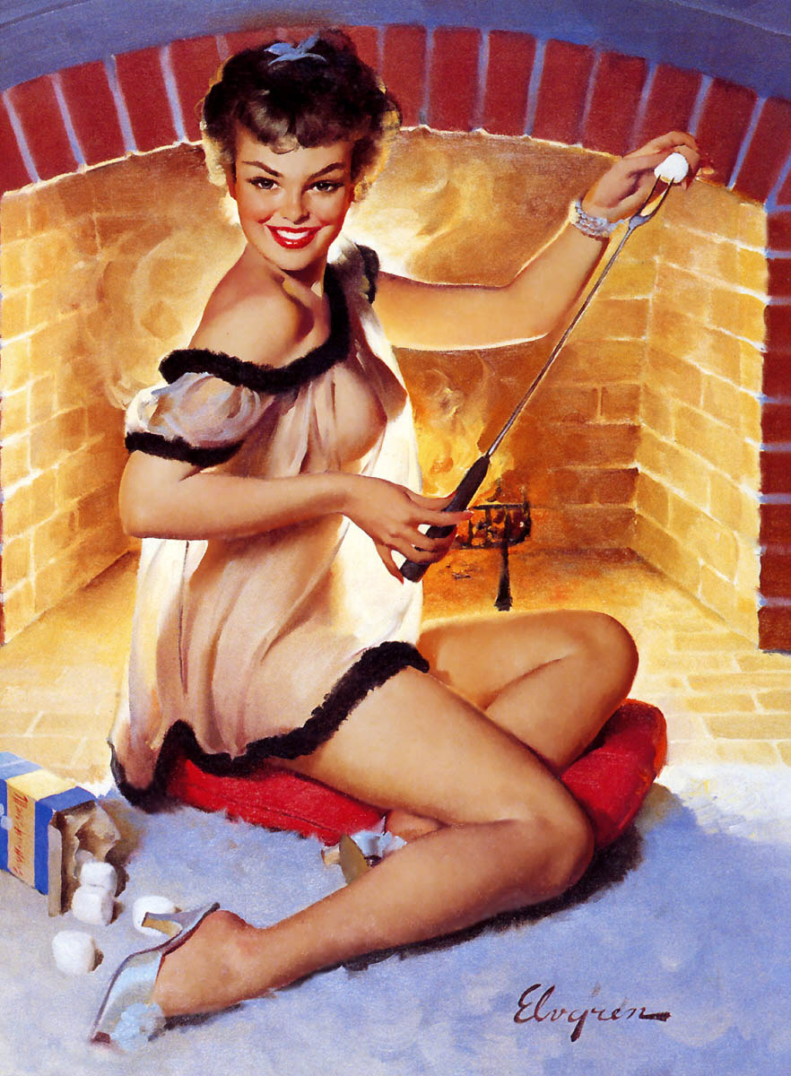 Gil Elvgren Pin-Up Art 023