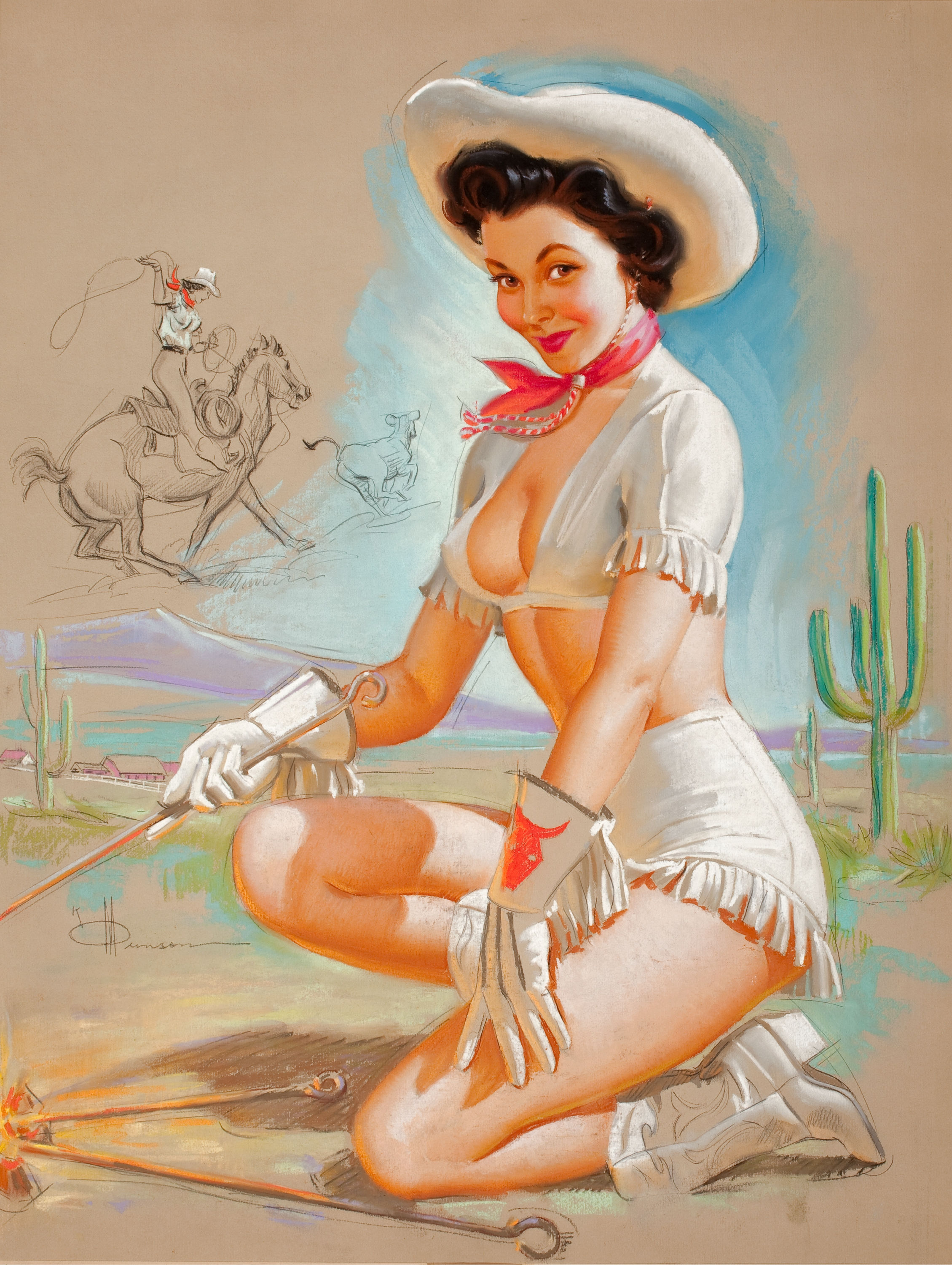 K O Munson Pin-Up Art 006