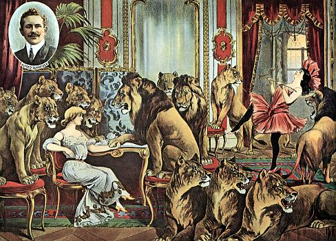 Vintage-Circus-Posters-Alfred-Schneider-Lions-In-Parlour