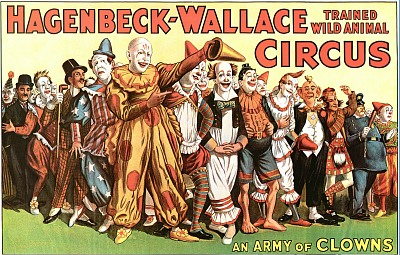 Vintage-Circus-Posters-Army-Of-Clowns