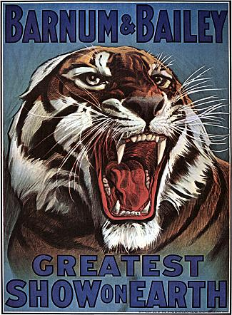 Vintage-Circus-Posters-Barnum-and-Bailey-Ferocious-Tiger