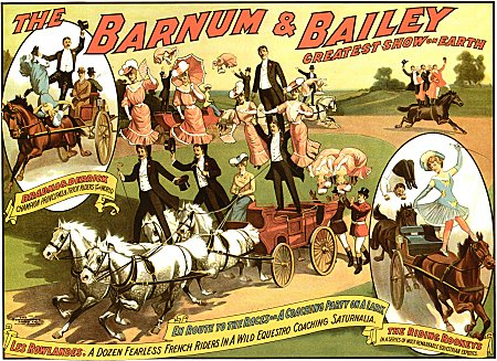 Vintage-Circus-Posters-Barnum-and-Bailey-Horses-and-Equestrian-Circus-Poster