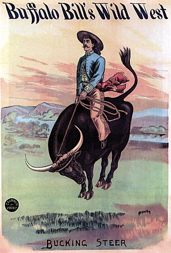 Vintage-Circus-Posters-Buffalo-Bill's-Wild-West-Bucking-Steer