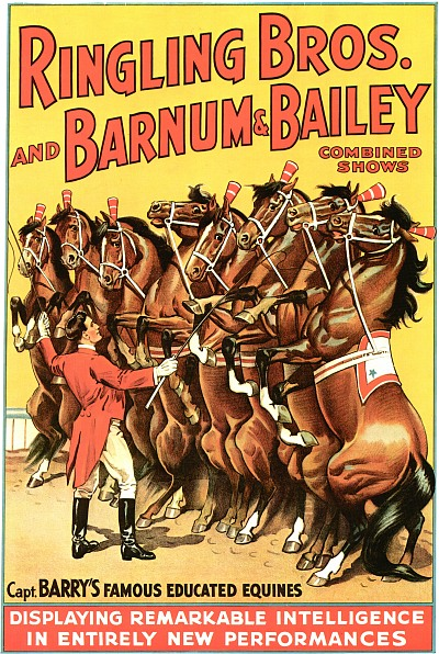 Vintage-Circus-Posters-Capt.-Barry's-Famous-Educated-Equines