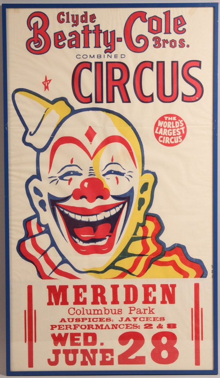 Vintage Circus Posters Clyde Beatty