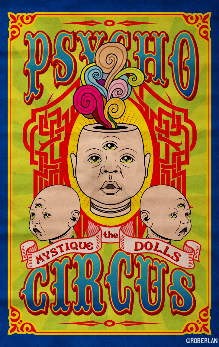 Vintage Circus Posters Psycho By Roberlan