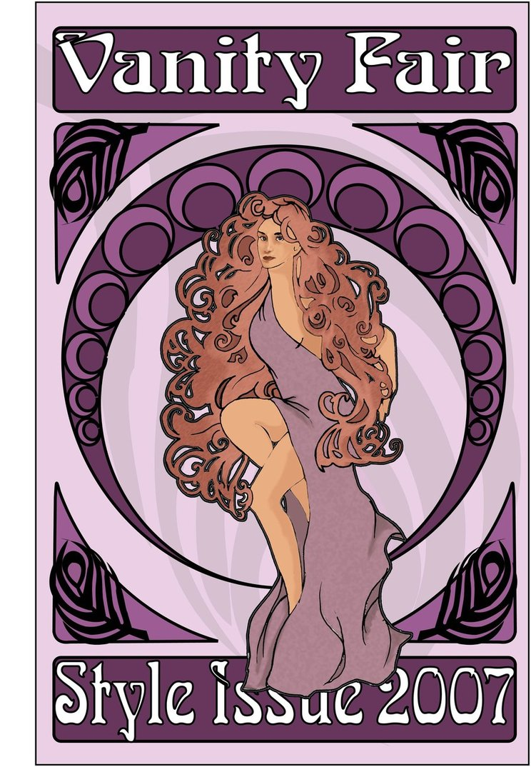 art nouveau poster by muses nightmare