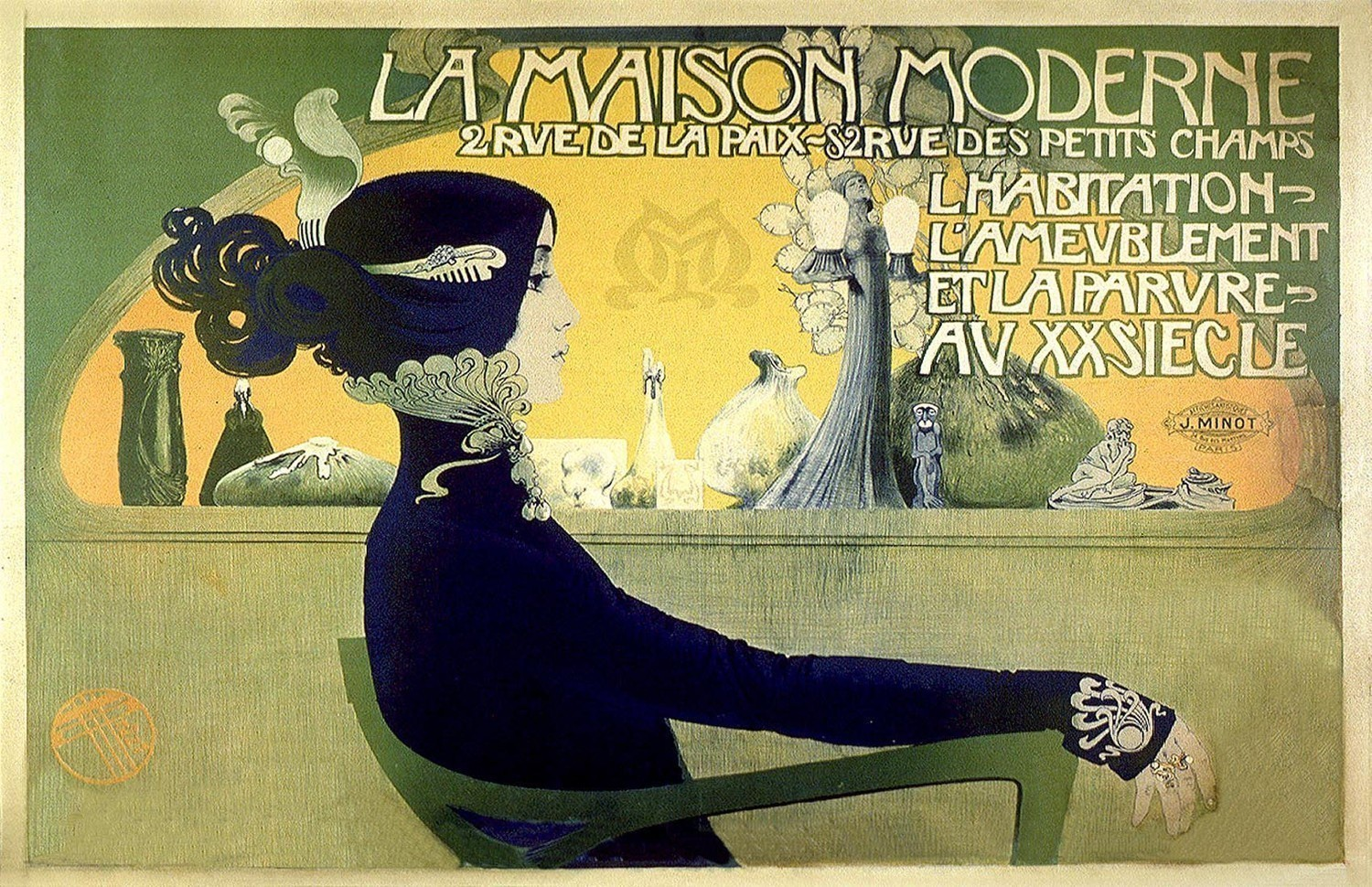 french art nouveau advertising poster