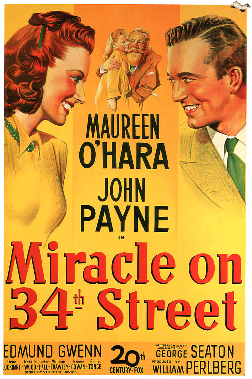 miracle on 34th street 1947 movie poster