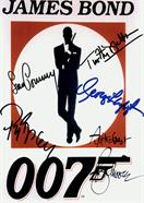 007 George Lazenby Sean Connery Roger Moore Timothy Dalton