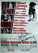 007_James_Bond_signed_POSTER__Sean_Connery_Autograph