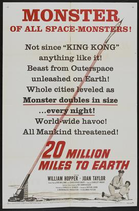 20 Million Miles To Earth 03 movie poster