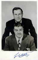 ABBOT AND COSTELLO Autograph