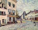 Alfred Sisley street in marly 1876
