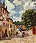 Alfred Sisley street in moret sur loing 1892