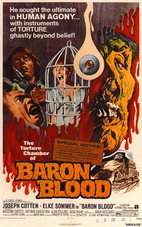 BARON BLOOD movie poster