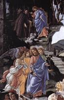 Botticelli The Temptation of Christ detail
