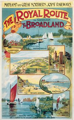 Broadlands vintage travel posters