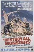 DESTROY ALL MONSTERS GODZILLA movie poster