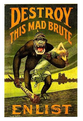 Destroy this mad brute war poster