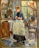 In-the-Dining-Room-by-Berthe-Morisot-1875