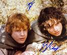 LOTR SEAN ASTIN AND E WOOD Autograph
