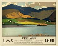 Loch Awe travel poster