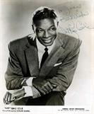 NAT KING COLE Autograph