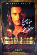 ORLANDO BLOOM PIRATES OF THE CARIBBEAN Autograph