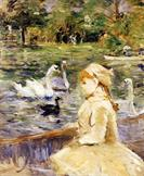 On the Lake by Berthe Morisot 1884