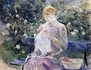 Pasie Sewing in the Garden by Berthe Morisot 1882