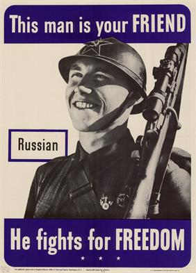 Patriotic World War 2 Poster US Allies poster