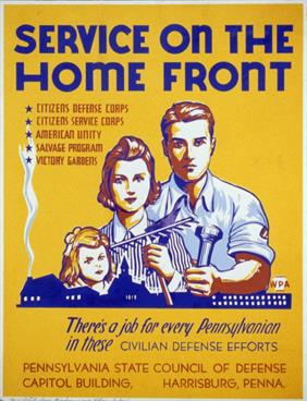 Service On The Home Front war poster