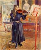 Studying the Violin by Berthe Morisot 1893