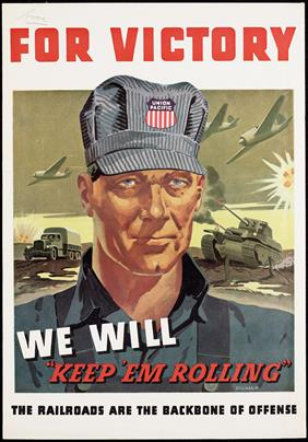 Victory war poster