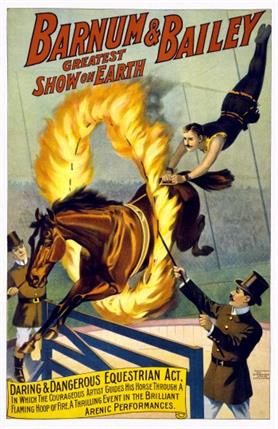 Vintage-Circus-Posters-Barnum-and-Bailey-Flaming-Horse-Jump