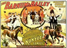Vintage-Circus-Posters-Barnum-and-Bailey-Great-Hungarian-Riders