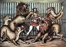 Vintage-Circus-Posters-Lion-Tamer-In-Cage-With-Lions-Circus-Poster