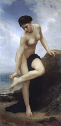 William-Adolphe Bouguereau Apres le bain 1875