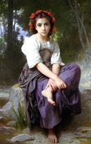 William-Adolphe Bouguereau Au bord du ruisseau