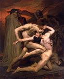 William Adolphe Bouguereau Dante et Virgile au Enfers