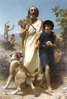 William-Adolphe Bouguereau Homere et son guide