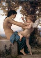 William-Adolphe Bouguereau Jeune fille se defendant contre lamour